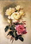french oil paintings - french bridal roses by paul de longpre
