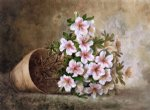 paul de longpre artwork - white azaleas in a flower pot by paul de longpre