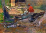 paul gauguin art - a little washerwoman by paul gauguin