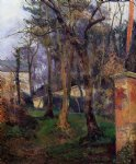 paul gauguin art - abandoned garden rouen by paul gauguin