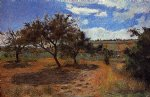 paul gauguin apple trees at l hermitage ii painting 27153
