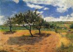 paul gauguin art - apple trees at l hermitage by paul gauguin