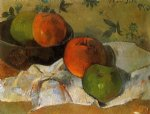 paul gauguin art - apples and bowl by paul gauguin