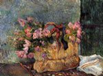 paul gauguin basket of flowers painting 27168