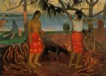 paul gauguin beneath the pandanus tree print