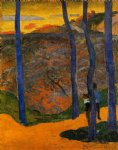 paul gauguin blue trees painting 27174