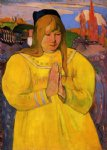 paul gauguin breton woman in prayer posters