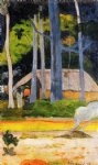 paul gauguin cabin under the trees painting 27191