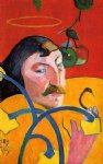 paul gauguin caricature self portrait paintings