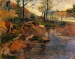 paul gauguin cove opposite pont painting