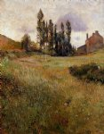 paul gauguin dogs running through a field painting