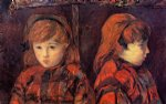paul gauguin double portrait of a young girl mademoiselle lafuite painting-27221