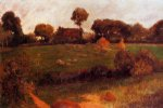 paul gauguin farm in brittany ii painting-27230