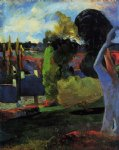 paul gauguin farm in brittany painting-27232