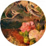 paul gauguin flowers and a bird painting