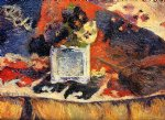 pet art - flowers and carpet by paul gauguin