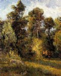 forest original paintings - forest edge by paul gauguin