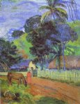 paul gauguin horse on road tahitian landscape paintings 27274