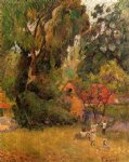 paul gauguin huts under the trees painting 27279