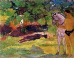 paul gauguin in the vanilla grove man and horse paintings 27597