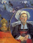 angel watercolor paintings - la belle angele by paul gauguin