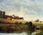 farm original paintings - la groue farm osny by paul gauguin