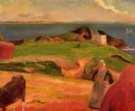 paul gauguin landscape at le pouldu painting 27296