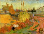 farm original paintings - landscape farmhouse in arles by paul gauguin