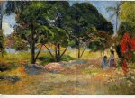 paul gauguin landscape with three trees painting 27302