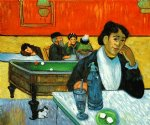 paul gauguin night cafe at arles ii painting