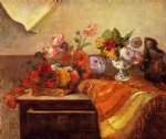 pots and bouquets by paul gauguin painting