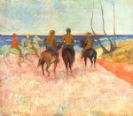 paul gauguin riders on the beach painting-27388
