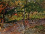 paul gauguin river under the trees martinique painting