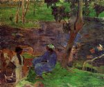 paul gauguin riverside ii painting