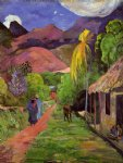 paul gauguin road in tahiti painting