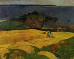 paul gauguin seaside harvest le pouldu painting