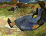 paul gauguin seated breton girl painting