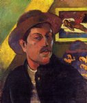 paul gauguin self portrait with hat posters