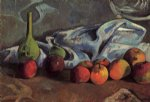 paul gauguin still life with apples and green vase painting-27432