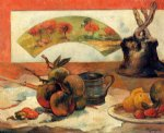 paul gauguin still life with fan ii painting-27435