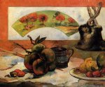 paul gauguin still life with fan iii painting-27436