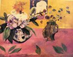 still life famous paintings - still life with japanese woodcut by paul gauguin