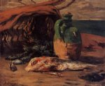 paul gauguin still life with jug and red mullet painting 27441
