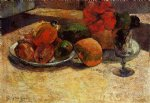 paul gauguin still life with mangoes and hisbiscus painting 27443