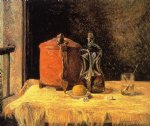 paul gauguin still life with mig and carafe painting 27445