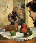 paul gauguin still life with profile of laval painting