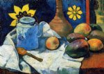 paul gauguin still life with teapot and fruit painting 27454