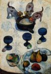 paul gauguin still life with three puppies painting 82858