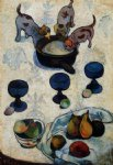 paul gauguin still life with three puppies painting 27455