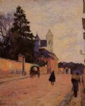 street original paintings - street in rouen by paul gauguin